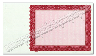 Goes® 4525 Carmine Harmony Certificates