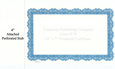 Goes® 179 Blue Mirror Certificates
